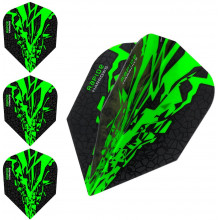 Harrows Rapide X Dart Flights Flys Set Grün